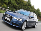 The Audi A6 Avant on the Road