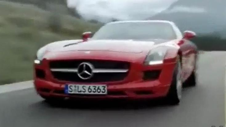 Mercedes-Benz SLS AMG Takes A Roll: Tunnel Roll Video
